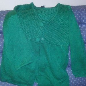 Ashley Judd Jade Color 3/4 Sleeve Sweater - Small